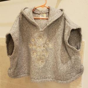 Osh Kosh girls poncho sweater
